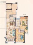 中梁永宁首府2室2厅1卫89平方米户型图