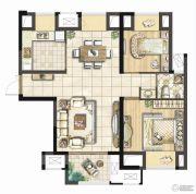融侨华府2室2厅1卫97平方米户型图