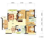 中海誉城3室2厅2卫118平方米户型图
