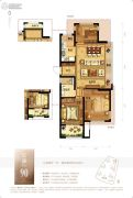 龙湖水晶郦城3室2厅1卫0平方米户型图