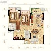 中亿阳明山水2室2厅2卫87平方米户型图