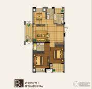 四季金辉2室2厅2卫128平方米户型图