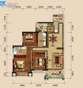 万盛・中央公馆3室2厅2卫120平方米户型图