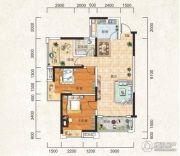 成邦・华夏公馆2室2厅1卫102平方米户型图