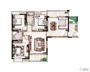 蓝惠首府3室2厅2卫121平方米户型图