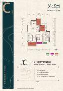 银港国际2室2厅2卫114平方米户型图