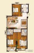 山水华庭3室2厅2卫111平方米户型图