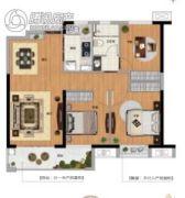 新力金沙湾3室2厅1卫95平方米户型图