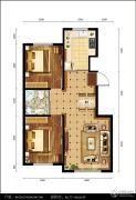 都市邻里2室1厅1卫86--89平方米户型图