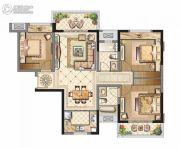 中海寰宇天下3室2厅2卫100平方米户型图