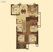 城开・观云3室2厅2卫108平方米户型图