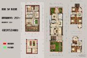 恒佳太阳城6室3厅5卫257平方米户型图