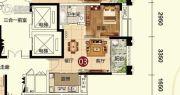 天鹅湾1室1厅1卫50平方米户型图