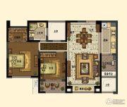 中交・南山美庐2室2厅1卫92平方米户型图