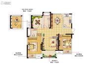 绿洲天逸城3室2厅2卫123平方米户型图