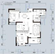 天汇龙城3室2厅1卫96--99平方米户型图