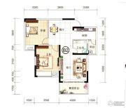 中安止泊园2室2厅1卫84--85平方米户型图