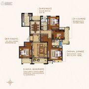 盛和花半里4室2厅2卫173平方米户型图