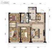汇置尚都3室2厅1卫92平方米户型图