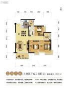 奥园上林一品3室2厅2卫91平方米户型图