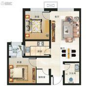 海鸿居然之家2室2厅1卫83平方米户型图