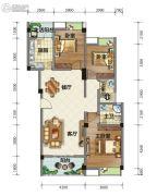 荣华山庄二期温情港湾3室2厅2卫114平方米户型图