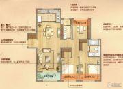 朗诗天萃3室2厅2卫136平方米户型图