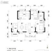 富通旗峰公馆3室2厅2卫106平方米户型图