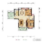 中核・半岛城邦2室2厅1卫94平方米户型图