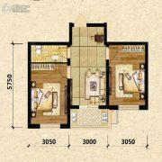 瑞士风情小镇三期铂邸2室2厅1卫62平方米户型图