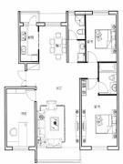 新星宇和源2室2厅1卫120平方米户型图