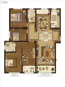 广厦・聚隆广场3室2厅2卫171平方米户型图