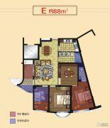 正丰・银座3室2厅2卫88平方米户型图