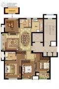鸿�Z园4室2厅1卫125平方米户型图