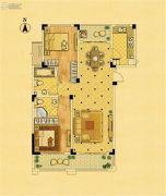 中南锦苑2室2厅2卫108平方米户型图
