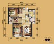 实力壹方城3室2厅1卫86平方米户型图