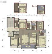 桂语里4室2厅2卫142平方米户型图