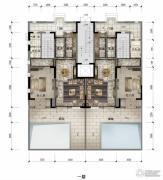 公园19034室2厅3卫190平方米户型图