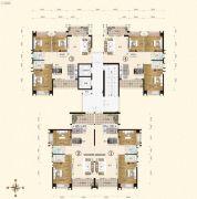 一品嘉园2室2厅2卫0平方米户型图