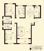 花香漫城2室2厅1卫91平方米户型图