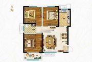 空港新城3室2厅1卫105平方米户型图
