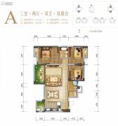 天籁福巴黎之春3室2厅2卫106--109平方米户型图
