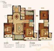 美的公园天下3室2厅3卫115平方米户型图