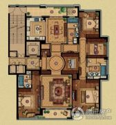 百合花园4室3厅3卫233平方米户型图