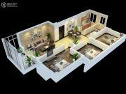 永富御景城2室2厅1卫87平方米户型图