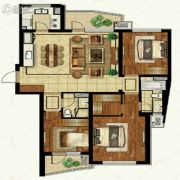 金地棕榈岛3室2厅2卫135平方米户型图