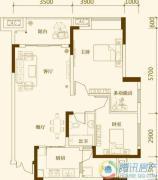 中亿阳明山水2室2厅1卫73平方米户型图