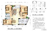 恒大苹果园4室2厅3卫0平方米户型图