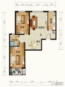 天和嘉园2室2厅1卫90平方米户型图