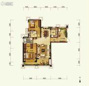 天隆三千海2室2厅2卫128平方米户型图
